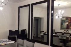 Juego de espejos con marco de madera