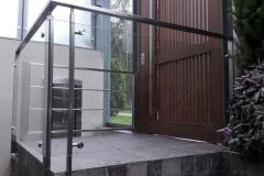 Balcón de acero inoxidable