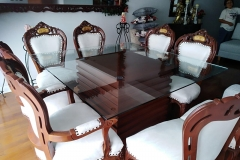 Tablero de vidrio para mesa.