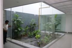 División de ambiente de vidrio templado